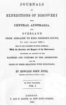 Journals of Expeditions of Discovery into Central Australia