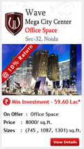 wave office space noida - wave assured return
