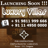 Puri Diplomatic Greens Villas Gurgaon