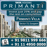 Tata Primanti Villas Gurgaon