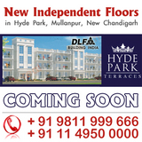 DLF Hyde Park Terraces Independent Floors Mullanpur