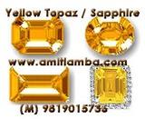 Yellow Sapphire Pukhraj Gemstone Birthstone