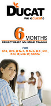 6 months project based indutrial training