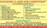 ENGINEERS CLASSES FOR COMPETITION