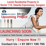 Tata Housing New Project Sector 113 Dwarka Expressway