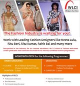 Join WLC College India for Fashion Design Courses