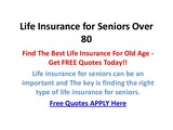 Life Insurance For Elderly