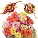Send Rakhi with Flowers to India