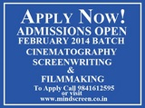 ADMISSION OPENS FOR FEBRUARY 2014 BATCH