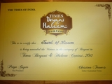 the times of india - THE GOLKONDA HOTEL HYDERABAD AWARDED
