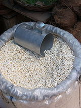 Puffed grain
