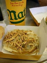 Chow mein sandwich