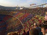 Supporters of FC Barcelona